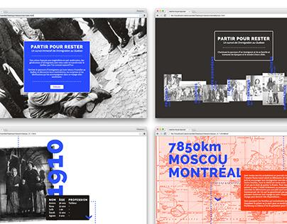 PARTIR POUR RESTER | Site web interactif