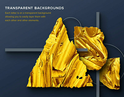 Geometric Gold Paint AlphabetbyChroma Supply