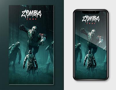 Zombie Zone Manipulation Artwork