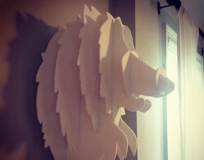 Hand-Cut Wolf