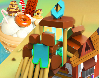 3d practice: Ice Cream, Magic Place & Mouse House