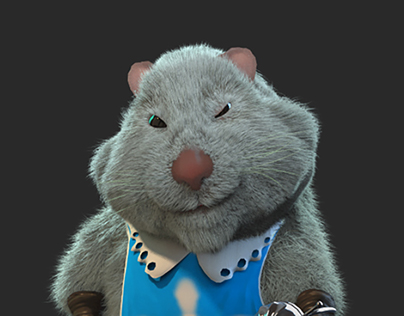 Cartoon hamsters musketeers sculpting and visualization