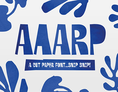 Aaarp - Arty Farty Display Font