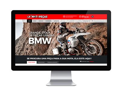 Site e Logo Lx Moto Peças