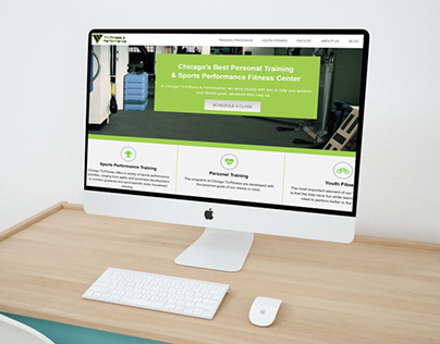 Website design for fitness company in Chicago, IL