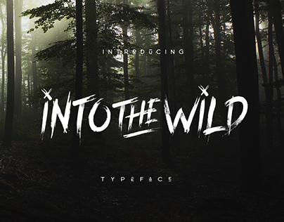Into The Wild Typeface