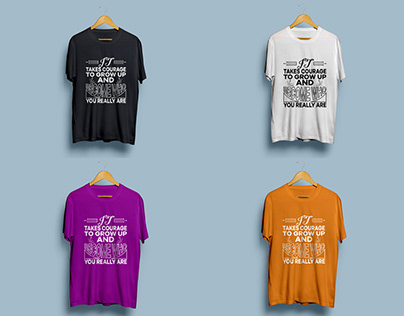 Typography Standard T-shirt Design
