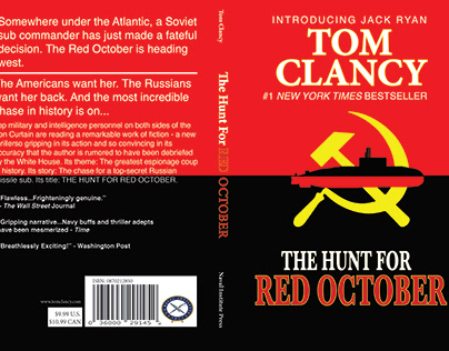 The Hunt For The Red October Book Cover Re-Designs