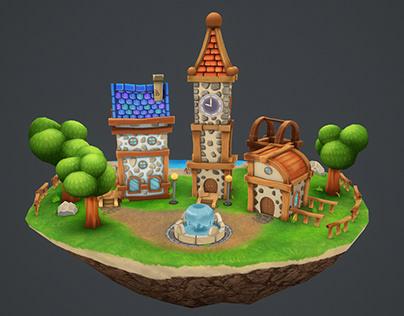 Cartoon Village
