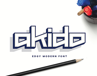 Akido Edgy Modern Font