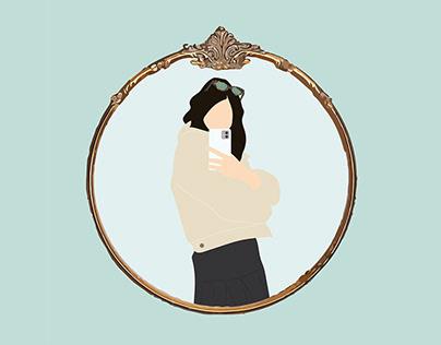 #selfie illustrations