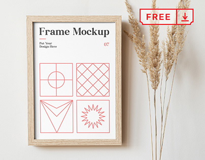 Free Frame on the Wall Mockup