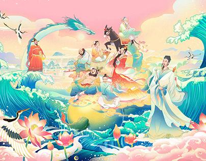 Yongle palace wall painting