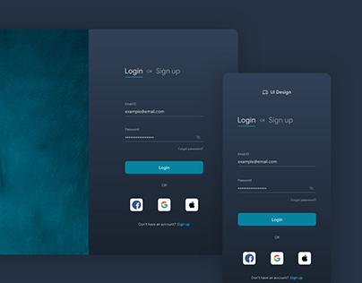 Login & Sign up UI Design