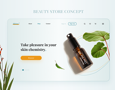 UX/UI design for a beauty store