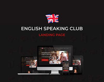 Landing page english speaking club