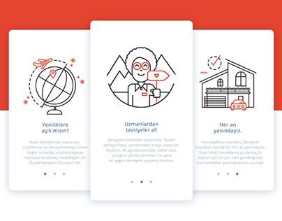 Butik Deneyimler App - Walkthrough Illustrations