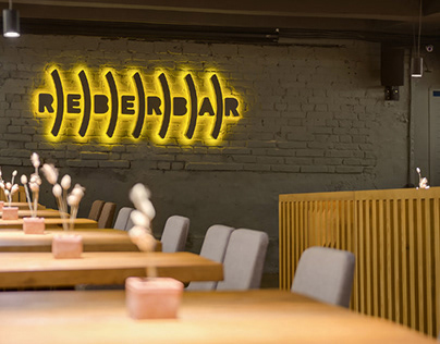 Identity and VIS for the pub REBERBAR in Kyiv.