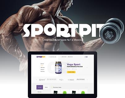 Design of online store: SPORTPIT (sports food)