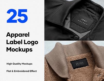 25 Apparel Tag & Labels Logo Mockups - PSD
