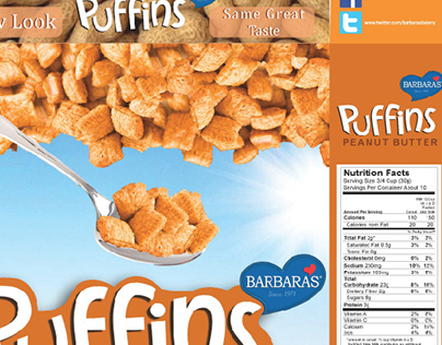 Package Design - Puffins Cereal Box