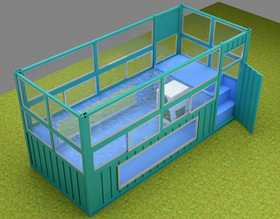 20ft Swimming Pool Container Design - Option 2