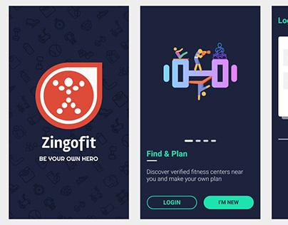 ZingoFit Fitness App Mobile UI