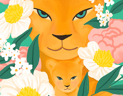 Mother Lion and Cub SERIES