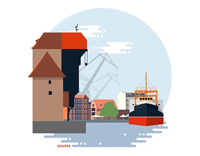 Pocztówka z Gdańska / Postcard from Gdansk