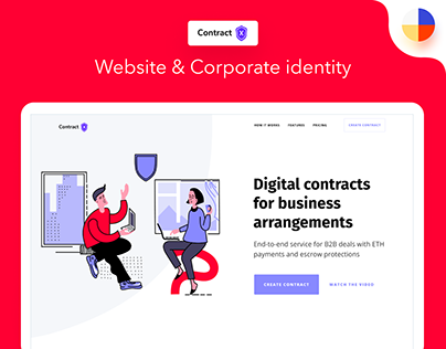 ContractX Website & Corporate Identity