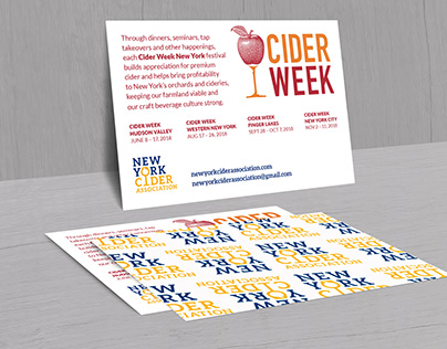 New York Cider Week postcard