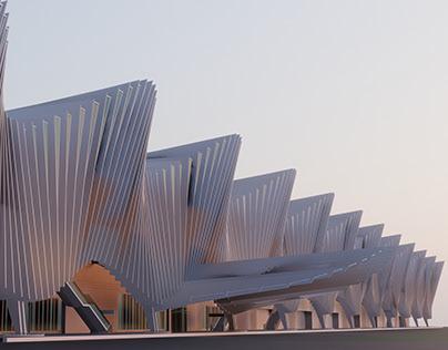 Mediopadana Station by Santiago Calatrava