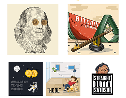 Cryptocurrency T-shirt Illustration