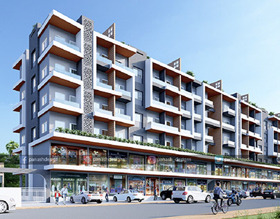 Combine Residential And Commercial Elevation