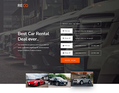 RECO | Car Rental Website