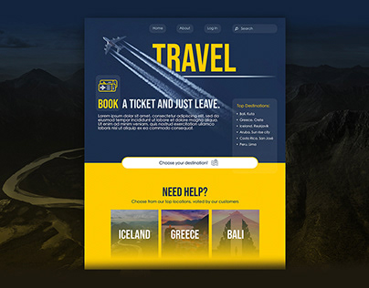 A Travel Booking Site - Website Concept
