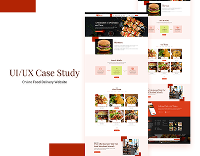 UI/UX Case study on Online Food Delivery Website Design
