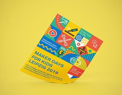 Maker Days for Kids Leipzig Visual Identity