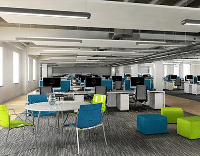 Office Space 3D Renders