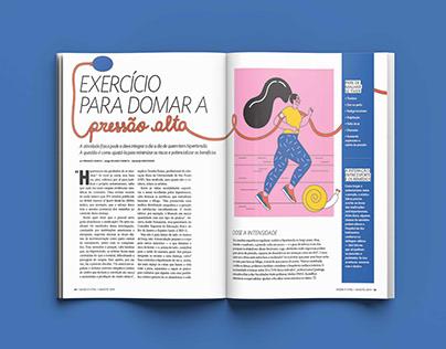 """Revista Saúde - """"Exercício para domar a pressão alta"""""""