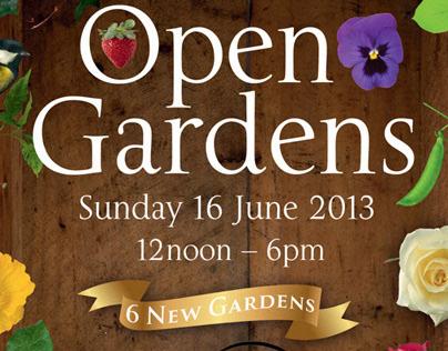 Posters for local garden scheme
