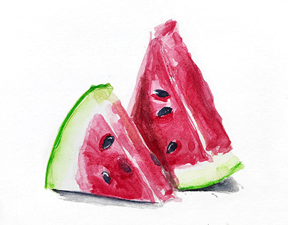 Watercolor food illustrations
