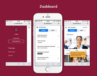 Talentify.io: Website + Dashboard redesign