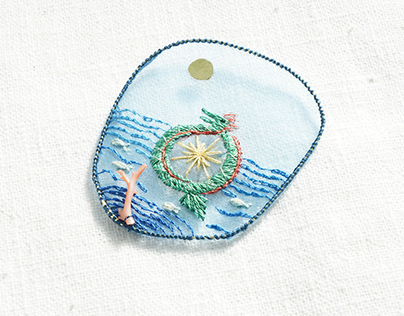 Imaginative amulets made by mermaid scales