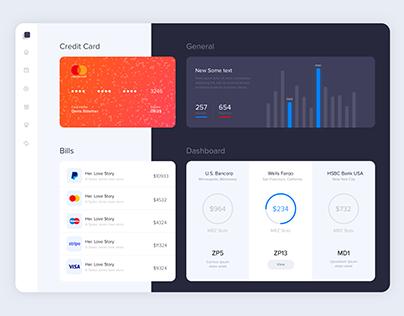 Finance Dashboard Screen   UX   UI Design