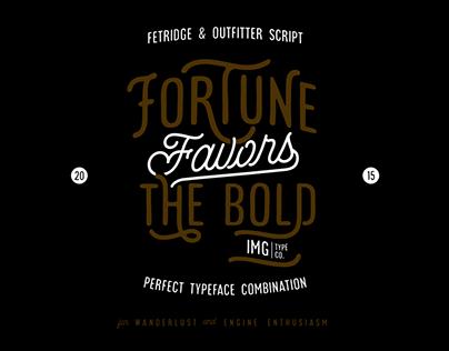 Fetridge & Outfitter Script Typeface
