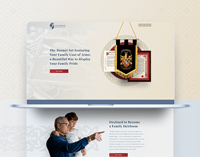 My Lineage - Banner - Landing Page - Design