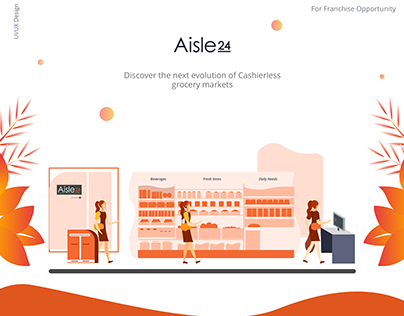 Landing Page for Cashierless Grocery Store- Aisle24