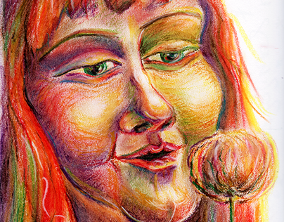 Pastel pencils sketches