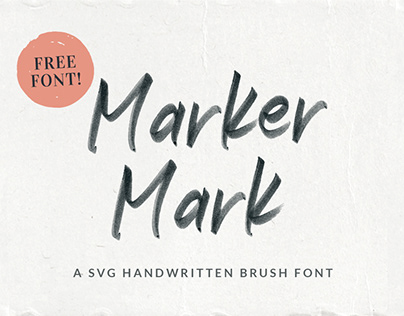 Marker Mark FREE SVG Handwritten Font